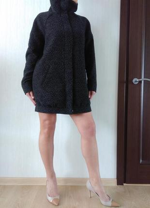 - 30% от цены!! стильное классное шерстяное пальто oversize бойфренд h&m р 10