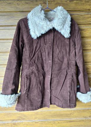 Шоколадна куртка- дублянка equator..