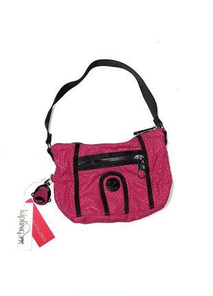 Нова маленька сумочка kipling  колір малина  1 відділення + з переду карман на замку