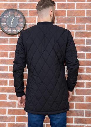 Мега стильная удлинённая стеганая куртка демми в xs s 44р 46 р