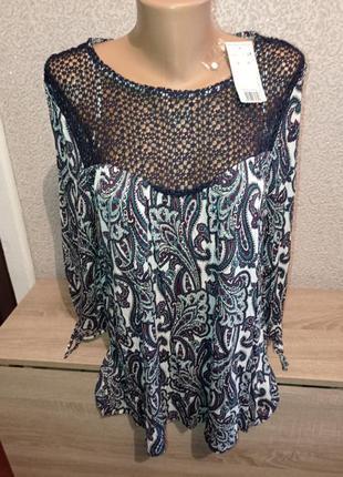 Вискозная блузка блуза кофточка 16uk