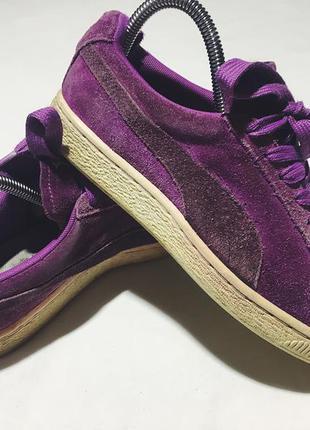 Женские замшевые кроссовки (кеды) puma ( пума 37рр 23см оригинал фиолетовые)
