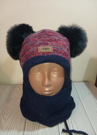 Шапка шарф зимний комплект набор для мальчиков