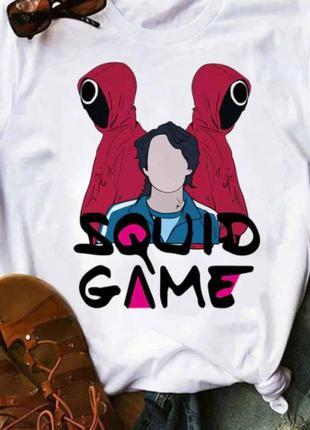 Футболка с принтом мерч игра в кальмара (오징어게임) squid game 19 push it