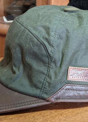 Кепка с ушами wigens  bill waxed cotton hat ( швеция)