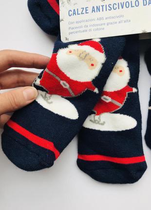 🎅новогодние носки на махре со стопперами lupilu