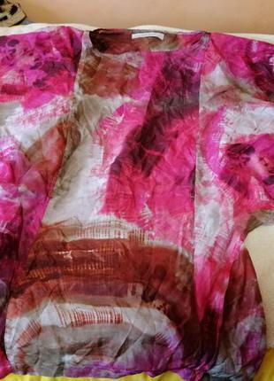 Шелковая блуза 100% шелк zara