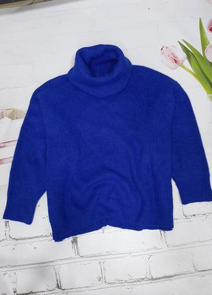 Esprit оригинал обьемныф свитер оверсайз джемпер свитер под горло гольф