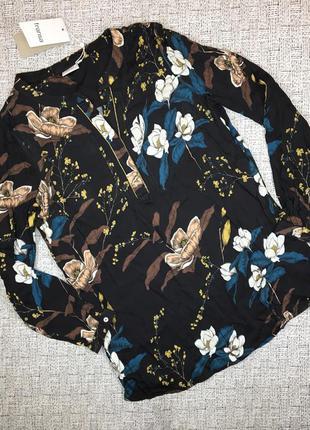 Красивая туника, s-м, fransa, дания, блузка удлинённая, с цветами