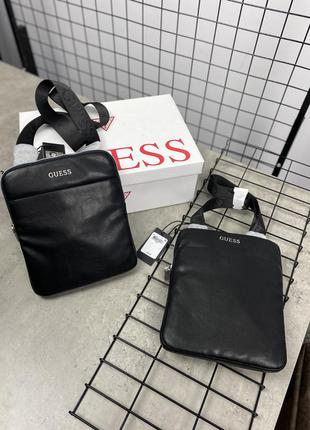 Сумка на плече guess, мужская сумка guess, чоловіча сумка guess