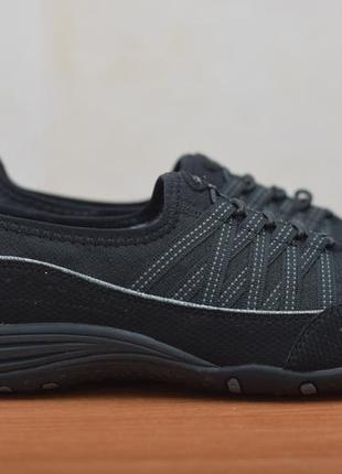 Черные женские кроссовки на резинках skechers, 38 размер. оригинал