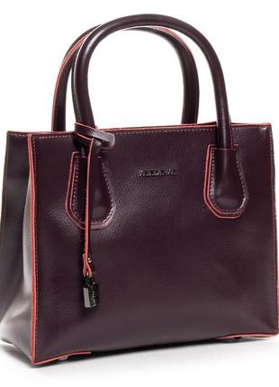 Компактная кожаная женская сумочка alex rai 1527.