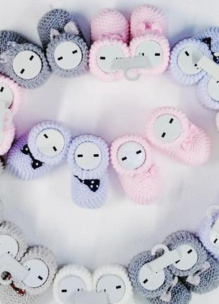 Пинетки вязанные для малышей