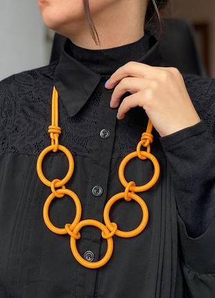 Дизайнерское яркое стильное украшение с кругами / большая распродажа!
