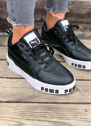 Кроссовки puma cali remix wn's чёрные