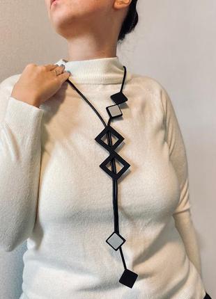 Дизайнерское стильное украшение геометрия минимализм / большая распродажа!