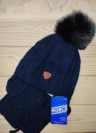 Шапка шарф теплый набор польша agbo