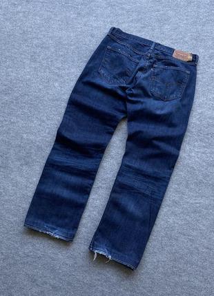 Круті стильні класичні широкі джинси levis 501 distressed w36 l36
