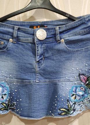 Юбка джинсовая g&z  xl