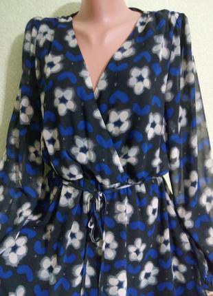 Очаровательное шифоновое платье большого размера 52-54.