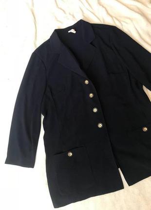 Срочная распродажа! красивый темно синий женский пиджак рукав  3-4