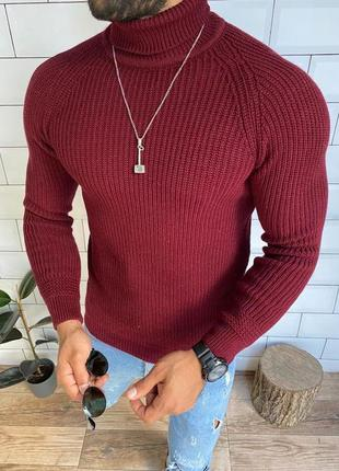 Хаки , бордо , свитер теплий