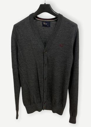 Кардиган свитер шерстяной мужской fred perry серий