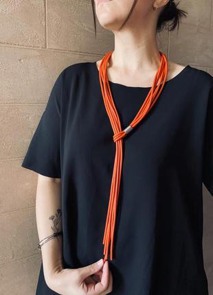 Дизайнерское стильное украшение в стиле минимализм красное/ большая распродажа!
