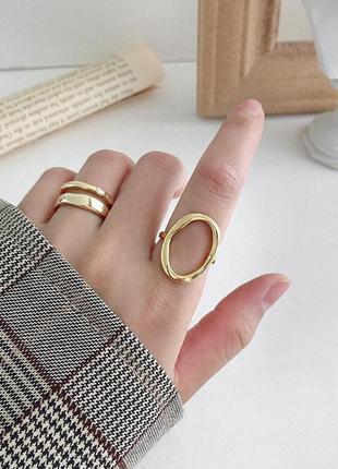 Кольцо с овалом серебро 925 позолота / большая распродажа!