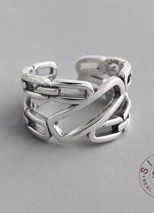 Оригинальное двойное кольцо цепи серебро 925 / большая распродажа!