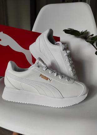 Жіночі кросівки кроси кроссовки білі шкіра пенка оригінал puma