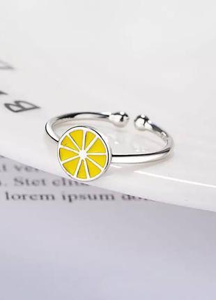 Кольцо лимон серебро 925 / большая распродажа!