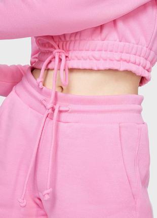 Tommy jeans женские розовые шорты tommy badge