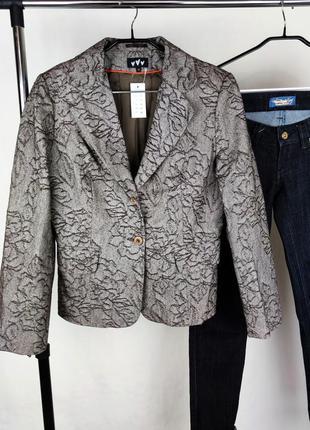 Брендовый пиджак жакет блейзер per una турция выбивка цветы этикетка