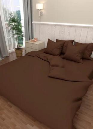 Простыни на резинке из коричневой однотонной бязи, все размеры, быстрая отправка