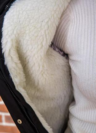 Куртка парка зимняя есть в чёрном цвете и синем -42 44 р xxs xs s