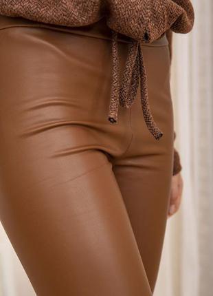 Легинсы лосины штаны повседневные стильные тянутся на флисе зима s m l xl