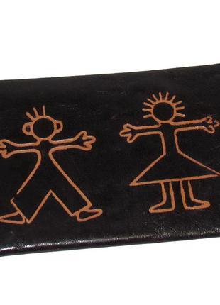 Интересный кошелек органайзер, натуральная кожа