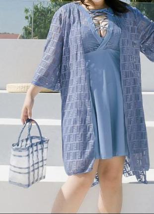 Шикарный купальник платье большого размера