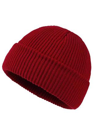 Трендова бордова шапка біні