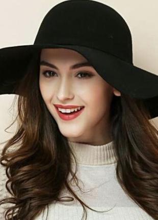 Капелюх з широкими полями,h&m ,шляпа с полями,осінній капелюх