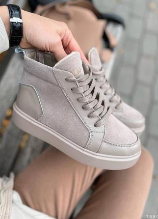 Демисезонные ботиночки из натуральной кожи и замша