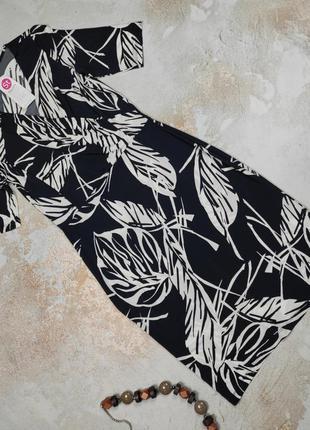 Платье миди новое красивое итальянское в принт uk 12/40/m
