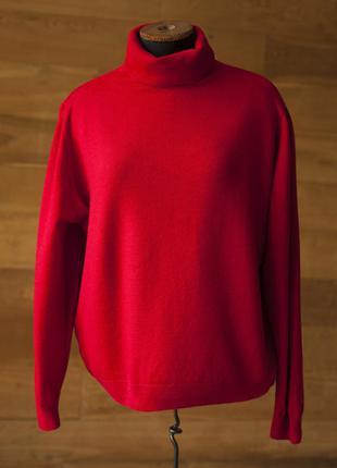 Красный шерстяной свитер под горло женский marks&spencer, размер 4xl, 5xl