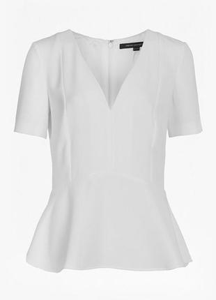 Блуза белая с баской french connection