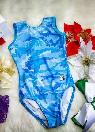 Яскравий блискучий купальник для дівчинки 116-128см