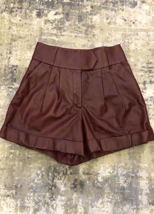 Кожаные шорты hilfiger collection