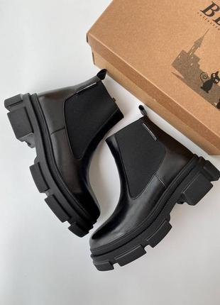 Sale🔥 демисезонные кожаные ботинки челси 🍂