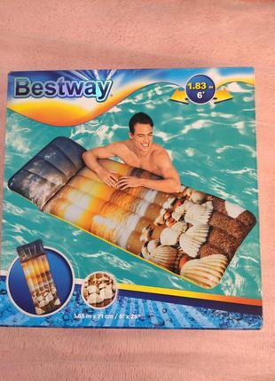 Матрас надувной bestway +насос в подарок