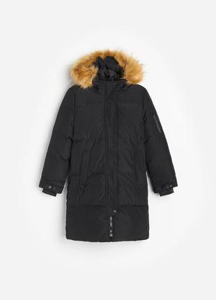 Стильне пухове пальто, пуховик 110ріст